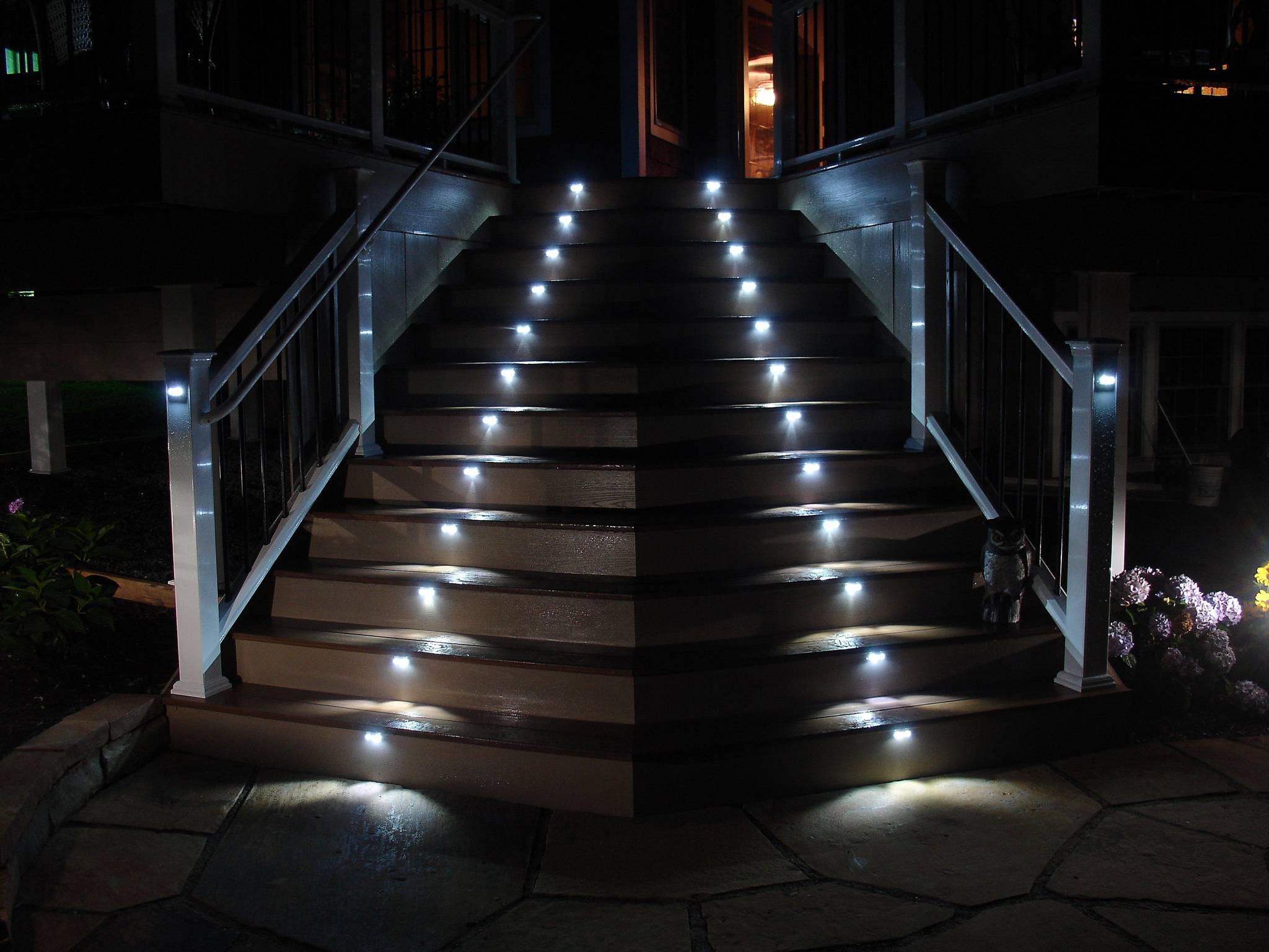 lighting systems below ted hall owner of builder s fence deck